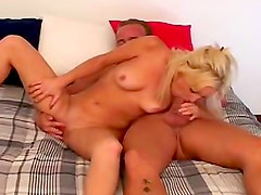 Small breasts are sexy on fucked blonde