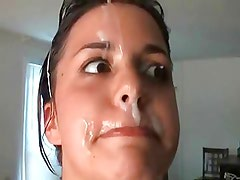 Sexy chubby amateur getting a nice fuck and facial