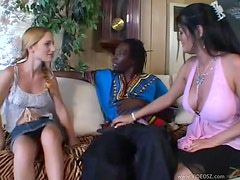 Amazing Bisexual Threesome With A Tranny