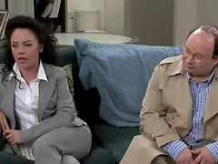 Jerry Seinfeld Eats A Wet Snatch And Gets Her Big Cock Blown