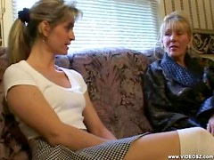 Mature Lesbians Playing With Their Wet Pussies