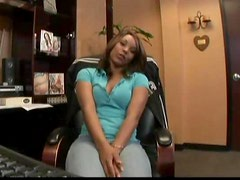Kim Pleasures Exposes It All And Gets A Good Office Fuck