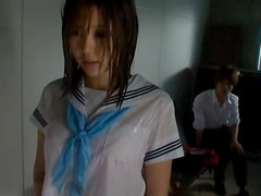 Tsukasa hottest Japanese schoolgirl gets fucked in the living room