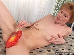 Fucked up granny getting nailed like mad here