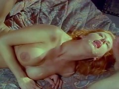 Lusty Jenny Blair gives a hot blowjob before riding some cocks