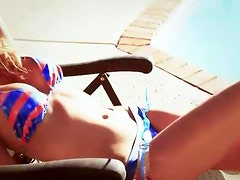 Her patriotic bikini is a thing of beauty