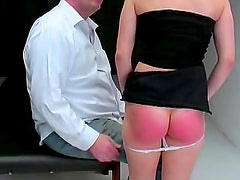 Round young ass spanked hard