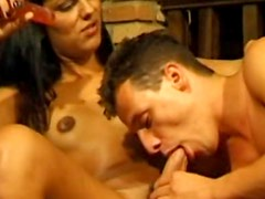 Tranny and her man like to fuck ass