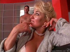 Blonde Mature Gets Banged By A Big Cock