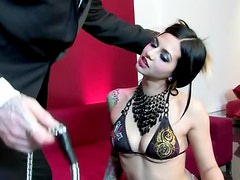 Amazingly hot Holly sucks big dick and gets pounded
