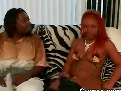 Ghetto Black Ugly Hooker Slut Sucking BBC
