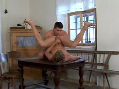 Thick cock fucks innocent twink in the ass
