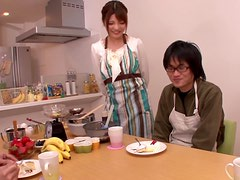 Yuria Kiritani Housewife Cumshot!