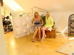 Silvia Saint gives a piece of advice to inexperienced blonde Lena Cova