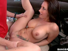 Bang Bus Threesome With The Busty Jayden