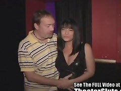Cock craving Anna gets taken to her 1st Theater