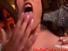 Hot Brunette Is Cock Thirsty hot swallow bigtits