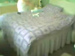 Hidden cam in bed room of my mum caught her masturbating