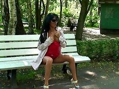 Park bench body display with flasher