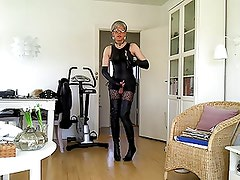 Sissy sexy thigh high boots 1