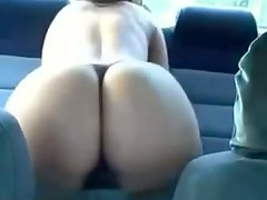 Hot car in a thong