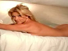 Lisa Dergan Rolls Around On Her Bed Totally Naked
