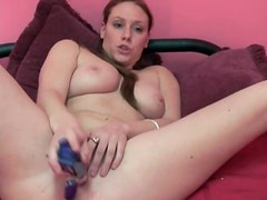Cute curvy amateur with big ass bangs pussy with toy