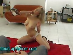 Superhot striptease and lapdance by czech blonde