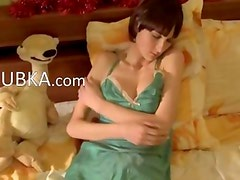 adorable teen russian babe stripping
