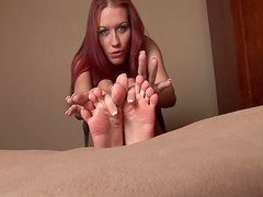 Feet Fetish Scene With The Amateur Redhead Smokie