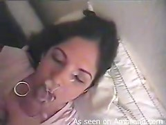 A Mouthful Of Hot Cum For A Slutty Brunette In Homemade Video
