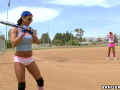 Horny Softball Player Gets Whacked With A Big Meat Bat