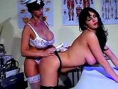 Naughty costume girls in lesbian ass play video