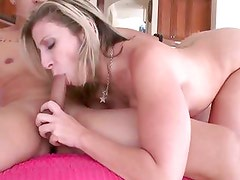 Raunchy Sara Jay enjoys slurping on this stiff shaft
