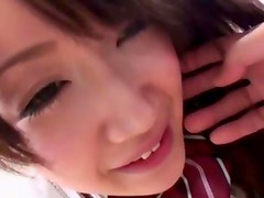 Japanese teen Shizuku uses her tits for fucking a cock