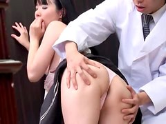 Sweet Asian girl getting fucked by a middle aged man