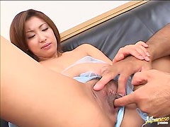 Divine Japanese hottie gets seduced and balled in the office