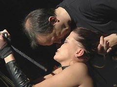 Beautiful redhead slavegirl cry for more pleasure