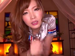 Sexy Stewardess Rina Kato Sucks Dick In POV Action