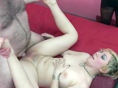 Blonde with curves fucked in the vagina