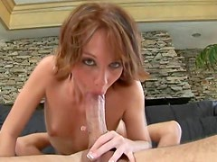 Blue eyed slut Sierra Sinn face fucked