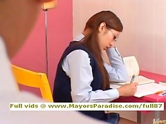 Miho Maeshima innocent teen brunette Chinese gets cumshoot