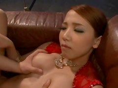 Ayaka Tomoda the sexy girl in red dress gets fucked in POV video