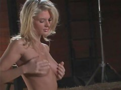 Playmate Candice Cassidy Having Some Naked Fun in the Farm