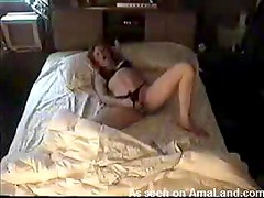 Blonde Chick Masturbates On Her King Size Bed