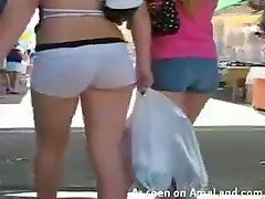Booty Short Voyeur Cam At The Flea Market