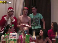 Russian students are celebrating New Year