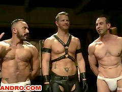 Live BDSM Gay Bondage Threesome