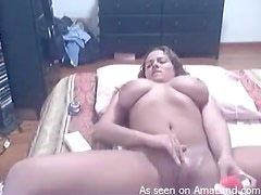 Busty Teen Plays With Her Wet Pussy In A Homemade Video