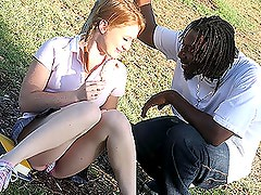 Naughty Teen Gets Drilled By A Big Black Cock